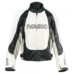 Мотокуртка  Ivagio мужска, цвет черно серый
