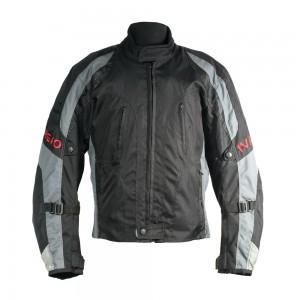 Мотокуртка текстильная Ivagio мужская, цвет черный серый