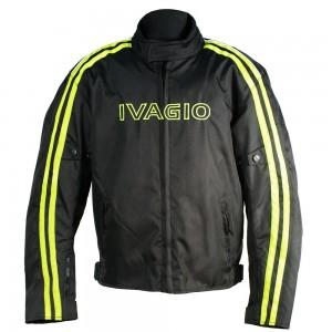 Мотокуртка текстильная Ivagio мужская, цвет черный желтый