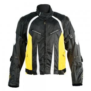 Мотокуртка  Ivagio мужская, цвет черный желтый белый