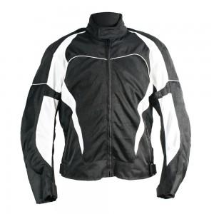 Мотокуртка текстильная Ivagio мужская, цвет черно белый