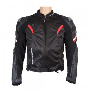 Куртка текстиль-кожа Komine JK-052 TITANIUM LEATHER M-JKT R-SPEC