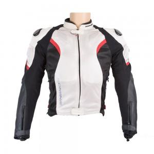 Куртка текстиль-кожа Komine JK-052 TITANIUM LEATHER M-JKT R-SPEC
