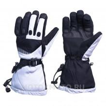 Block White текстильные зимние мотоперчатки