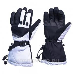 Block White  зимние мотоперчатки