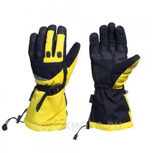 Block Yellow  зимние мотоперчатки