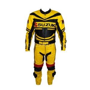 Suzuki Gsxr yellow and black кожаный мотокомбинезон