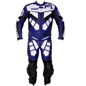 Yamaha R1 Blue кожаный мотокомбинезон