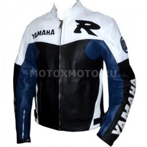 Мотокуртка Yamaha R Black White & Blue