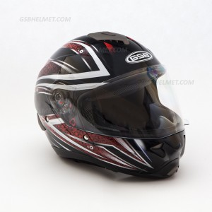 Шлем  GSB G-342 black red