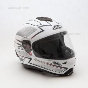 Шлем  GSB G-342 white line white grey