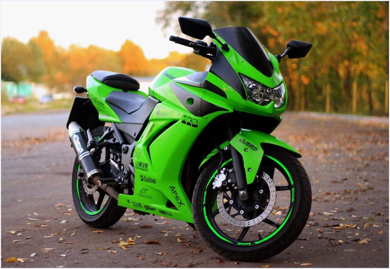 мотоцикл зелено-черный скачать